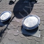 světlovod ALLUX 350 Flexi - instalace v šikmé střeše s asfaltovým šindelem
