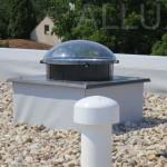 světlovod ALLUX 350 - plochá střecha s kačírkem