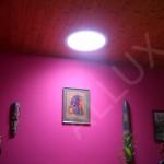 stropní difuzér světlovodu ALLUX 550 v pokoji bez oken