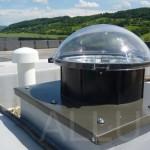 světlovod ALLUX 250 - v ploché střeše s PVC hydroizolací