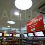světlovody ALLUX 550 - Kaufland Praha (lékárna)