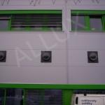 světlovody ALLUX ve fasádě výrobní haly