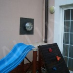 světlovod ALLUX 250 ve fasádě rodinného domu
