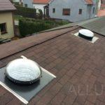 světlovody ALLUX 550 - montáž do šikmé střechy (asfaltový šindel)